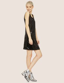 ARMANI EXCHANGE SLEEVELESS SEQUIN SHIFT DRESS Mini Dress Woman f