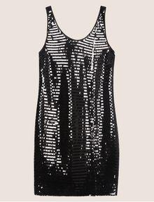 ARMANI EXCHANGE SLEEVELESS SEQUIN SHIFT DRESS Mini Dress Woman r