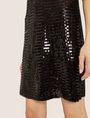 ARMANI EXCHANGE SLEEVELESS SEQUIN SHIFT DRESS Mini Dress Woman b