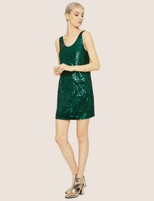 ARMANI EXCHANGE SLEEVELESS SEQUIN SHIFT DRESS Mini Dress Woman d