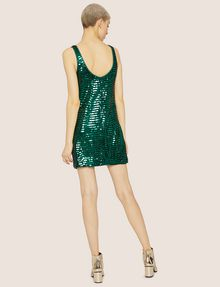 ARMANI EXCHANGE SLEEVELESS SEQUIN SHIFT DRESS Mini Dress Woman e