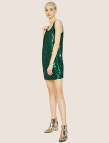 ARMANI EXCHANGE SLEEVELESS SEQUIN SHIFT DRESS Mini Dress Woman f