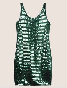 ARMANI EXCHANGE SLEEVELESS SEQUIN SHIFT DRESS Mini Dress Woman r