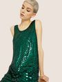 ARMANI EXCHANGE SLEEVELESS SEQUIN SHIFT DRESS Mini Dress Woman a