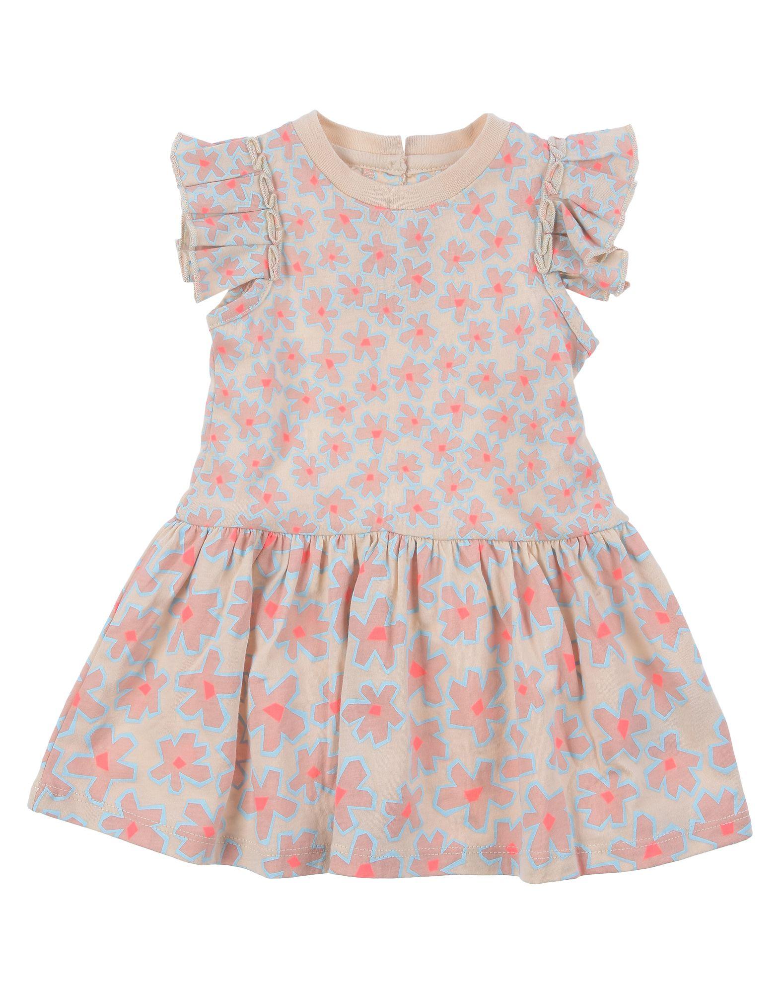 《セール開催中》STELLA McCARTNEY KIDS ガールズ 0-24 ヶ月 ワンピース・ドレス サンド 3 コットン 100%