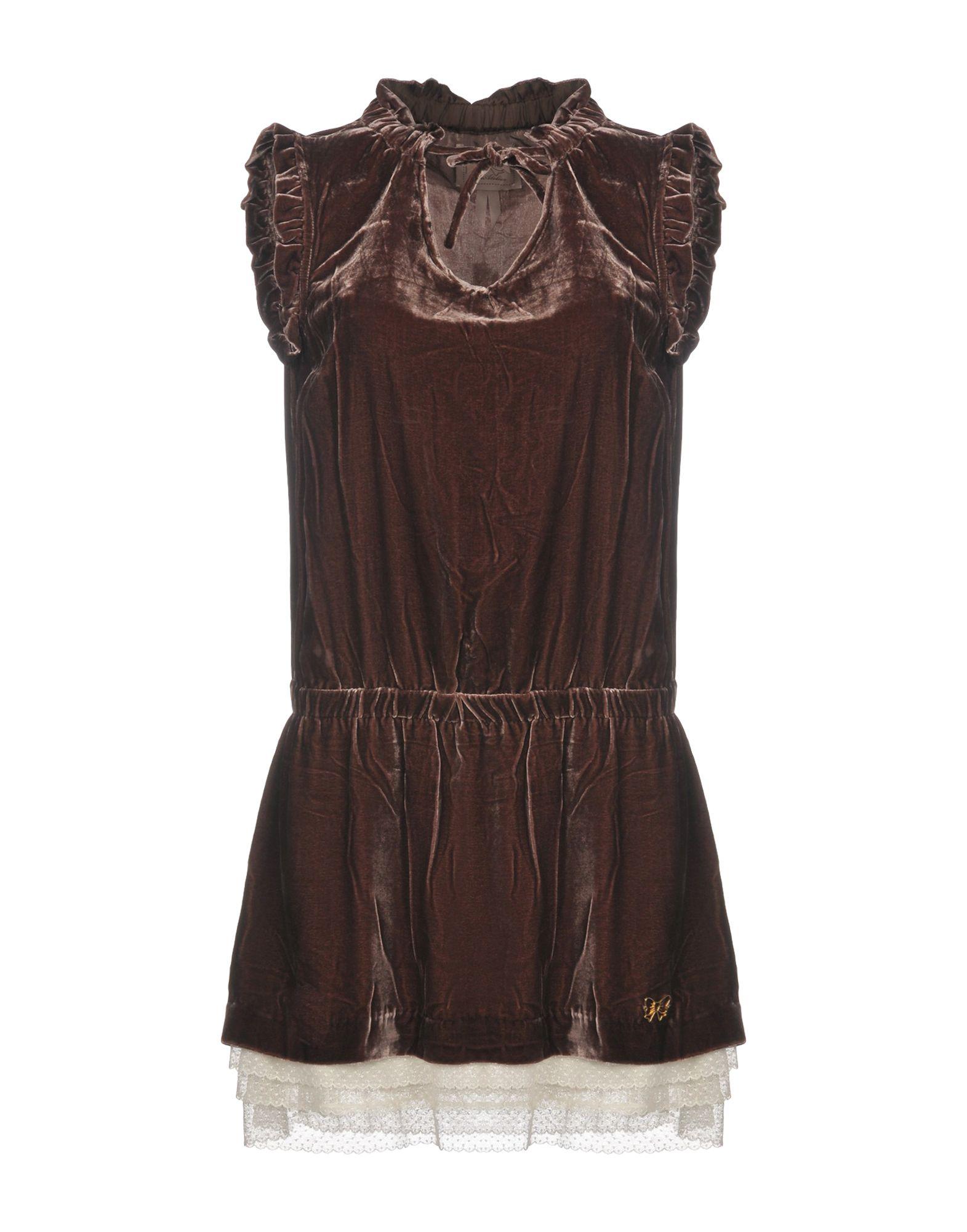 ATELIER FIXDESIGN Короткое платье платье без рукавов с кружевной вставкой на спинке