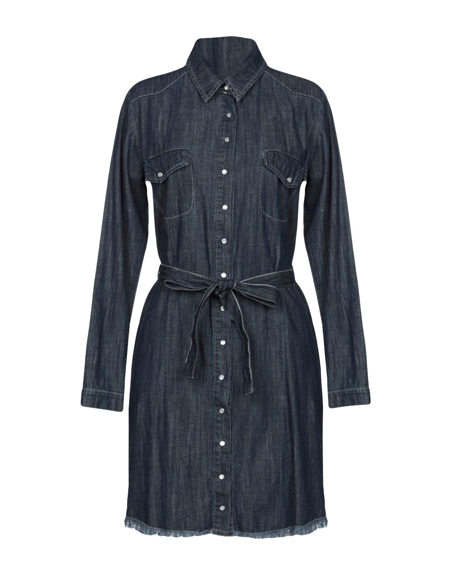 SOUVENIR Короткое платье souvenir джинсовая рубашка