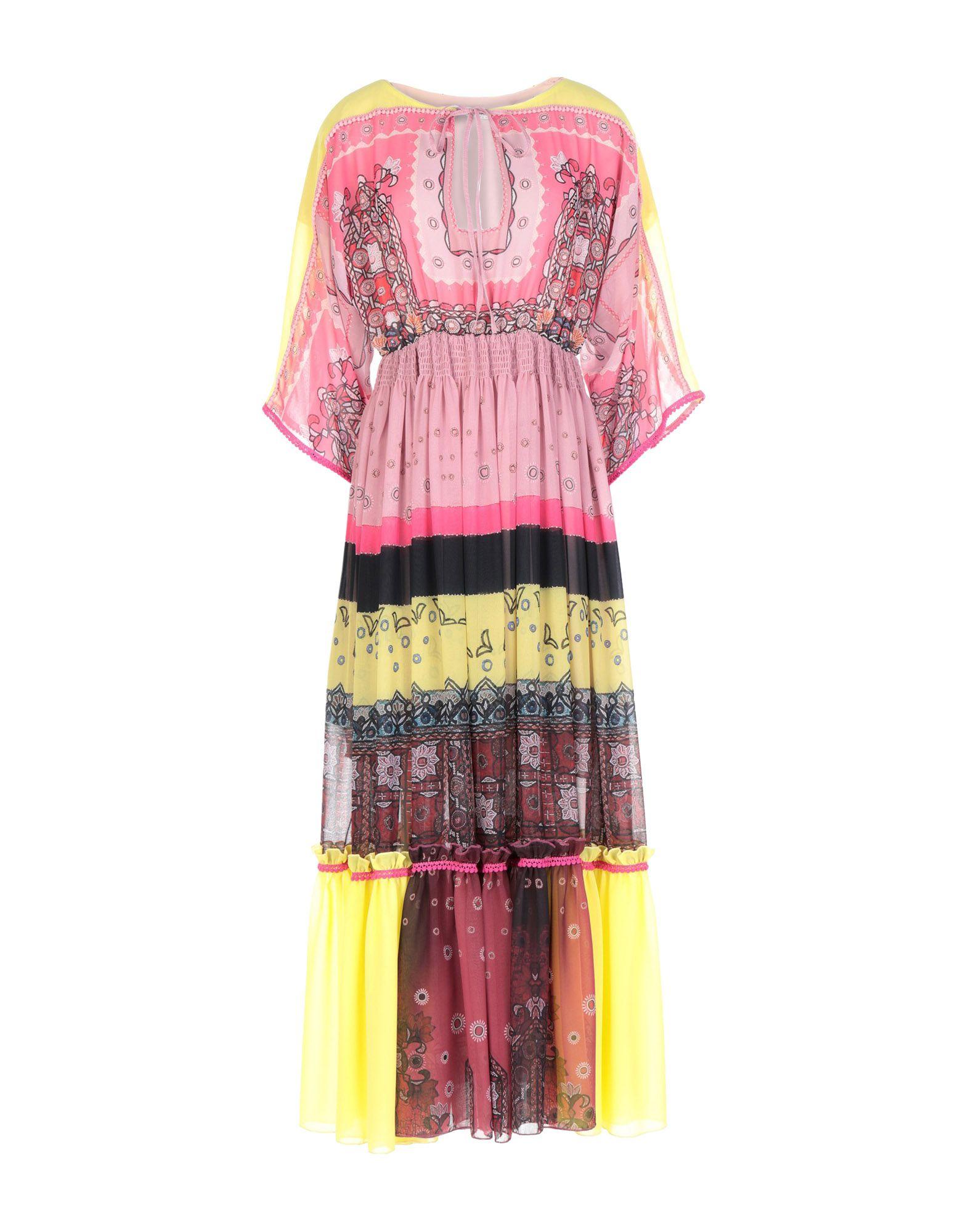 TENAX Платье длиной 3/4 burgundy choker neck crossover v front drape surplice top