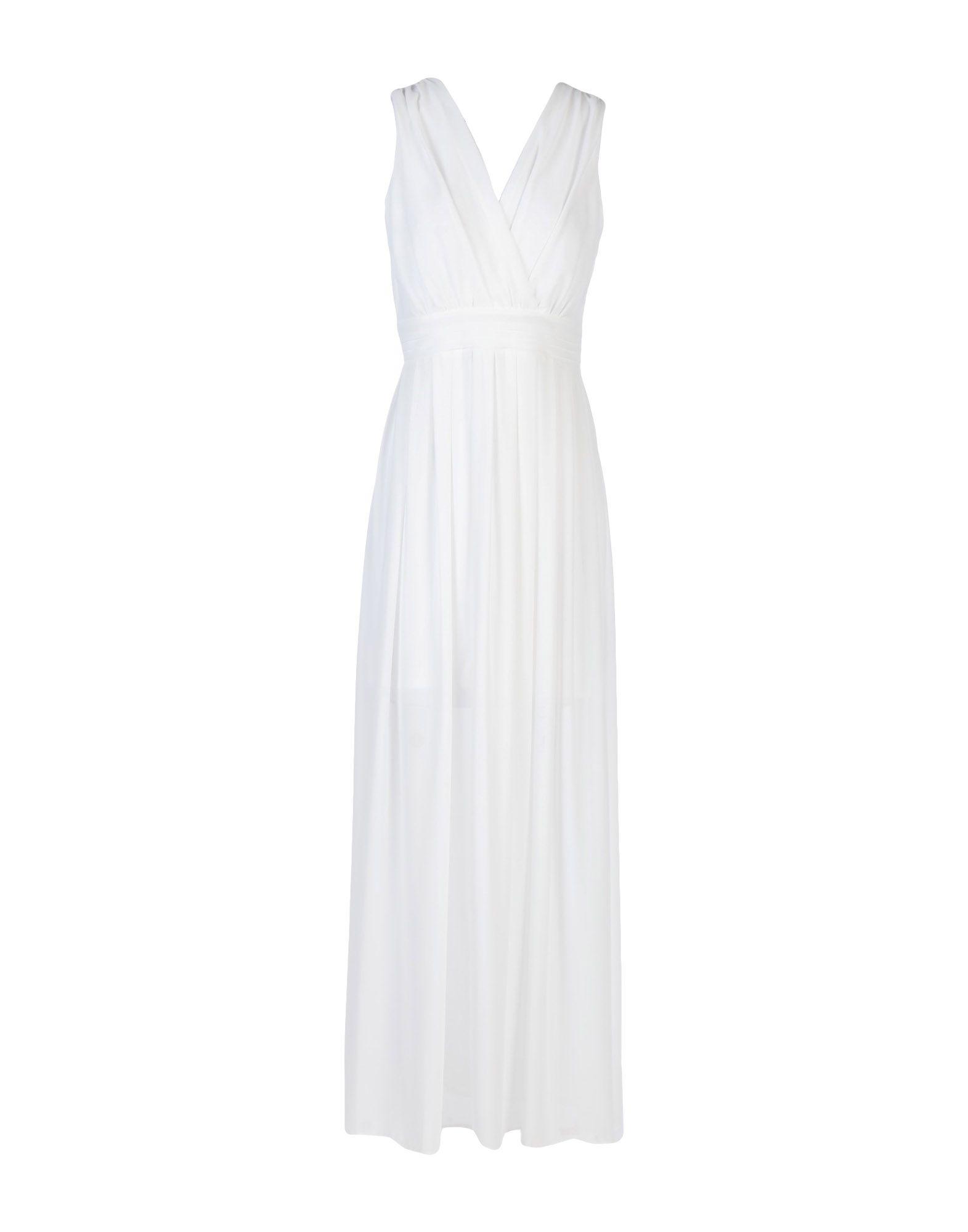 《送料無料》VICOLO レディース ロングワンピース&ドレス ホワイト S ポリエステル 100%