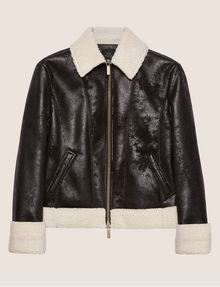 ARMANI EXCHANGE TUMBLED FAUX-SHERPA JACKET Blouson Jacket [*** pickupInStoreShipping_info ***] r