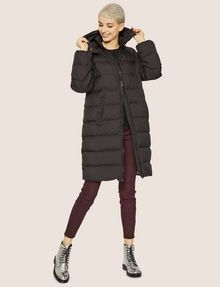 ARMANI EXCHANGE HOODED DOWN-FILL LONG PUFFER PUFFER JACKET Woman f