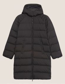 ARMANI EXCHANGE HOODED DOWN-FILL LONG PUFFER PUFFER JACKET Woman r