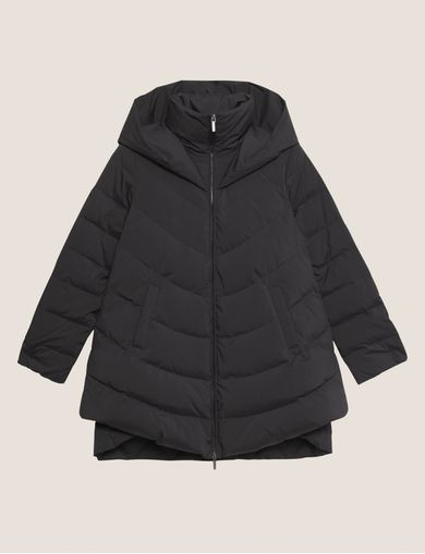 DOUBLE-HEM DOWN-FILL QUILTED PUFFER COAT