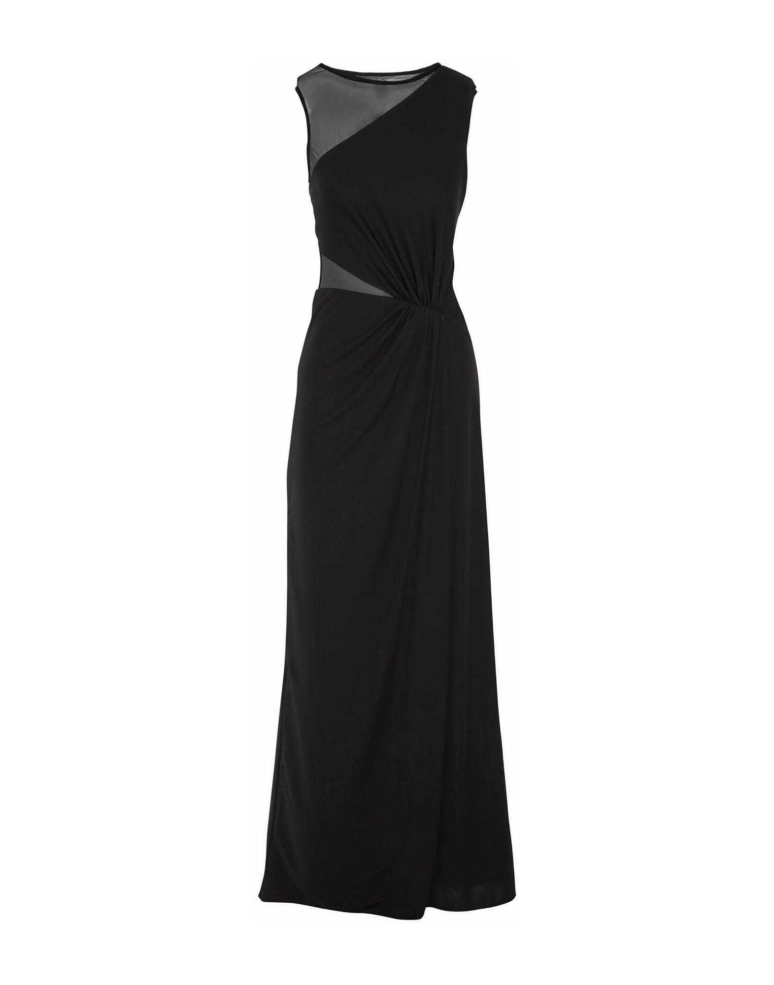 《期間限定セール中》HALSTON HERITAGE レディース ロングワンピース&ドレス ブラック 2 ポリエステル 100%