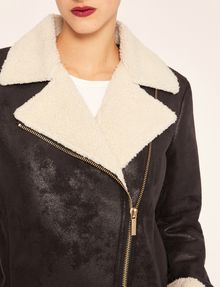 ARMANI EXCHANGE TUMBLED FAUX-SHERPA COAT Jacket Woman b