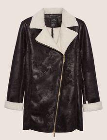 ARMANI EXCHANGE TUMBLED FAUX-SHERPA COAT Jacket Woman r