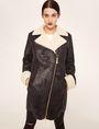 ARMANI EXCHANGE TUMBLED FAUX-SHERPA COAT Jacket Woman f