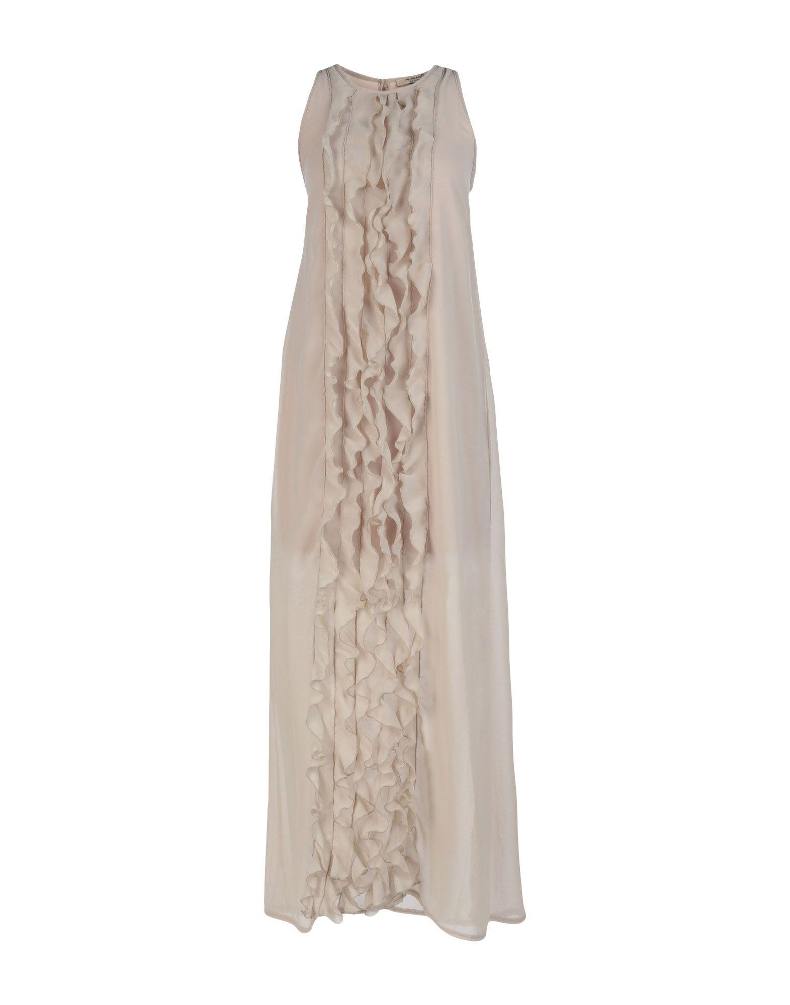 《送料無料》MICHELA MII レディース ロングワンピース&ドレス ベージュ S ポリエステル 100%