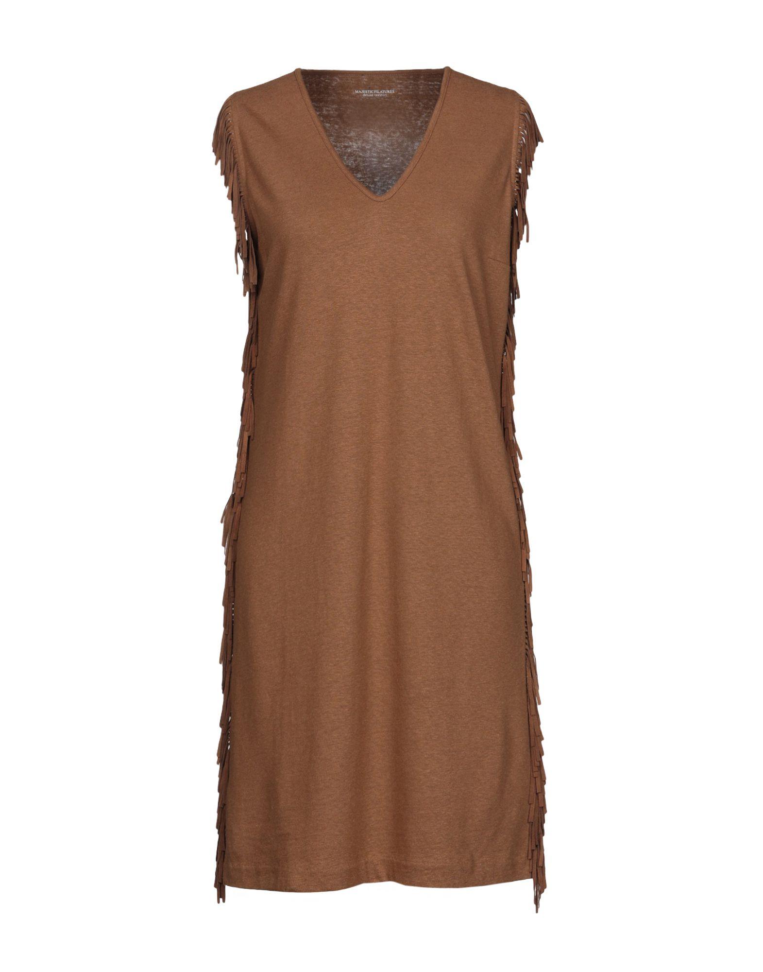 MAJESTIC FILATURES Короткое платье majestic filatures платье до колена