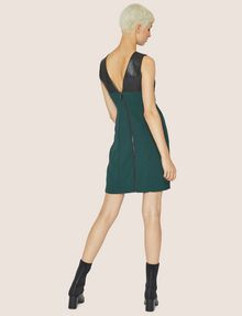 ARMANI EXCHANGE FAUX-LEATHER PANELED SHEATH Midi dress [*** pickupInStoreShipping_info ***] e