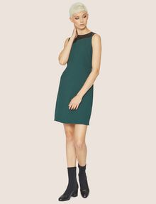 ARMANI EXCHANGE FAUX-LEATHER PANELED SHEATH Midi dress [*** pickupInStoreShipping_info ***] f