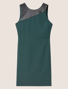 ARMANI EXCHANGE FAUX-LEATHER PANELED SHEATH Midi dress [*** pickupInStoreShipping_info ***] r