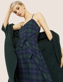 ARMANI EXCHANGE CROSS-BACK PLAID DRESS Midi Dress Woman a