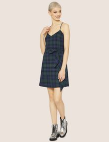 ARMANI EXCHANGE CROSS-BACK PLAID DRESS Midi Dress Woman d