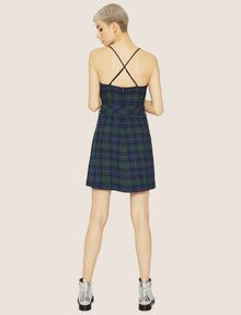 ARMANI EXCHANGE CROSS-BACK PLAID DRESS Midi Dress Woman e