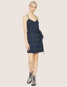 ARMANI EXCHANGE CROSS-BACK PLAID DRESS Midi Dress Woman f