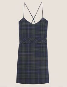 ARMANI EXCHANGE CROSS-BACK PLAID DRESS Midi Dress Woman r