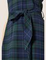 ARMANI EXCHANGE CROSS-BACK PLAID DRESS Midi Dress Woman b