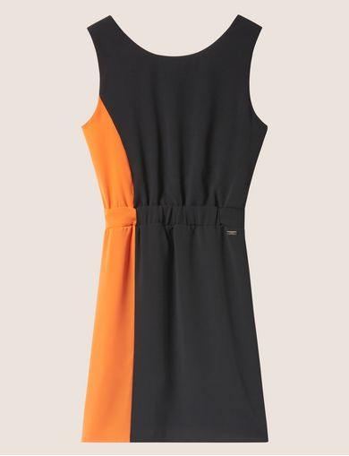 COLORBLOCKED ELASTIC-WAIST SHEATH
