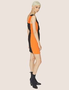 ARMANI EXCHANGE COLORBLOCKED ELASTIC-WAIST SHEATH Mini Dress Woman d