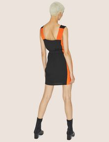 ARMANI EXCHANGE COLORBLOCKED ELASTIC-WAIST SHEATH Mini Dress Woman e
