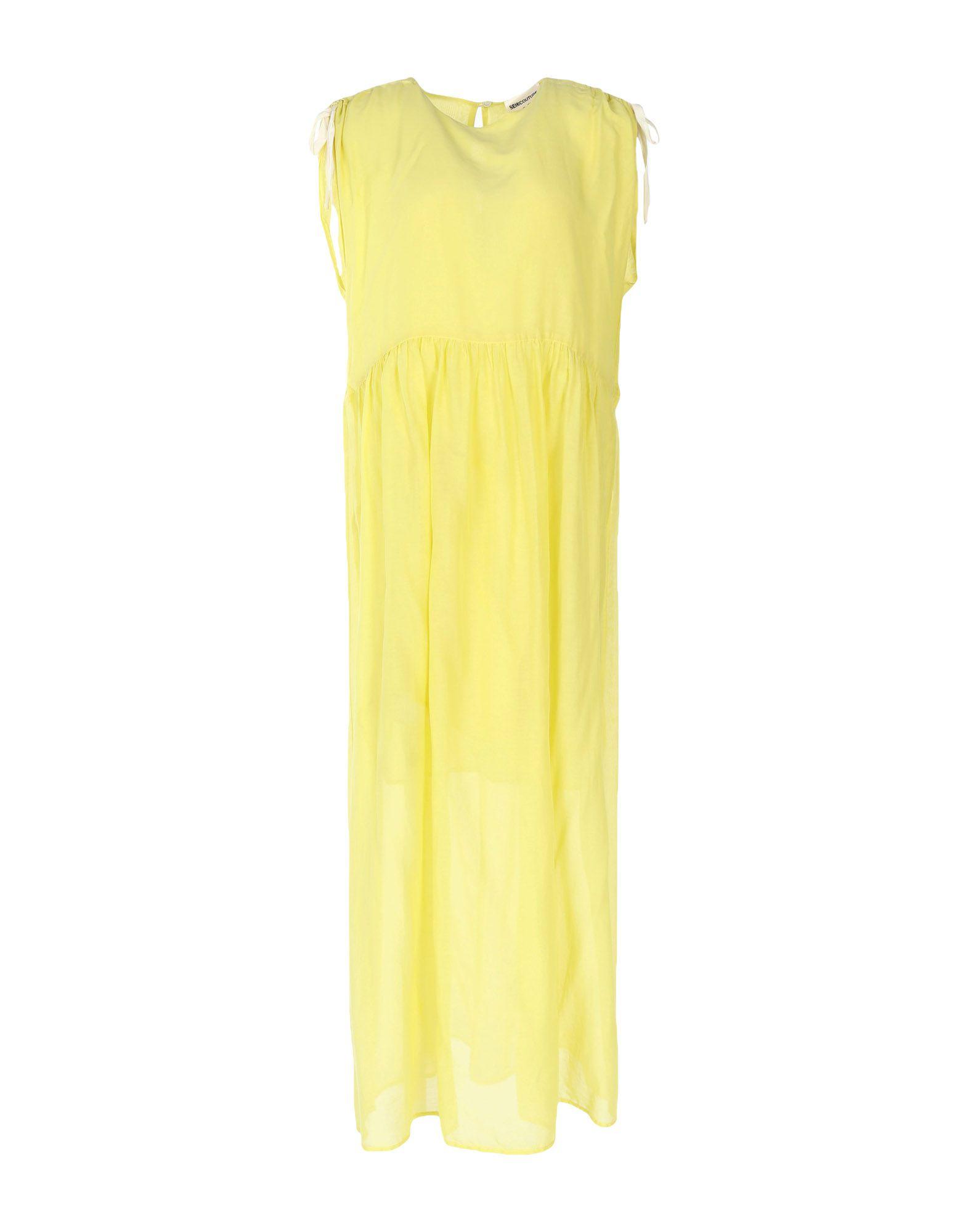 SEMICOUTURE Damen Langes Kleid Farbe Gelb Größe 5