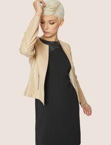 ARMANI EXCHANGE FAUX-LEATHER PANELED SHEATH Midi dress [*** pickupInStoreShipping_info ***] a