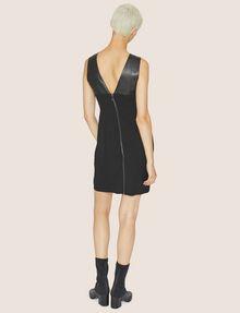 ARMANI EXCHANGE FAUX-LEATHER PANELED SHEATH Midi dress [*** pickupInStoreShipping_info ***] e