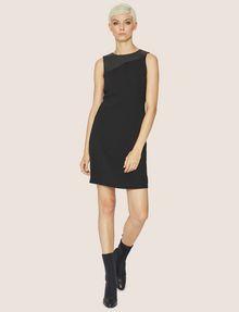 ARMANI EXCHANGE FAUX-LEATHER PANELED SHEATH Midi dress [*** pickupInStoreShipping_info ***] f
