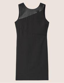 ARMANI EXCHANGE FAUX-LEATHER PANELED SHEATH Midi dress [*** pickupInStoreShipping_info ***] r
