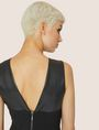 ARMANI EXCHANGE FAUX-LEATHER PANELED SHEATH Midi dress [*** pickupInStoreShipping_info ***] b