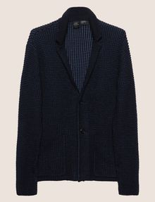 ARMANI EXCHANGE BLAZER MORBIDO IN MISTO LANA EFFETTO TESTURIZZATO Blazer [*** pickupInStoreShippingNotGuaranteed_info ***] r