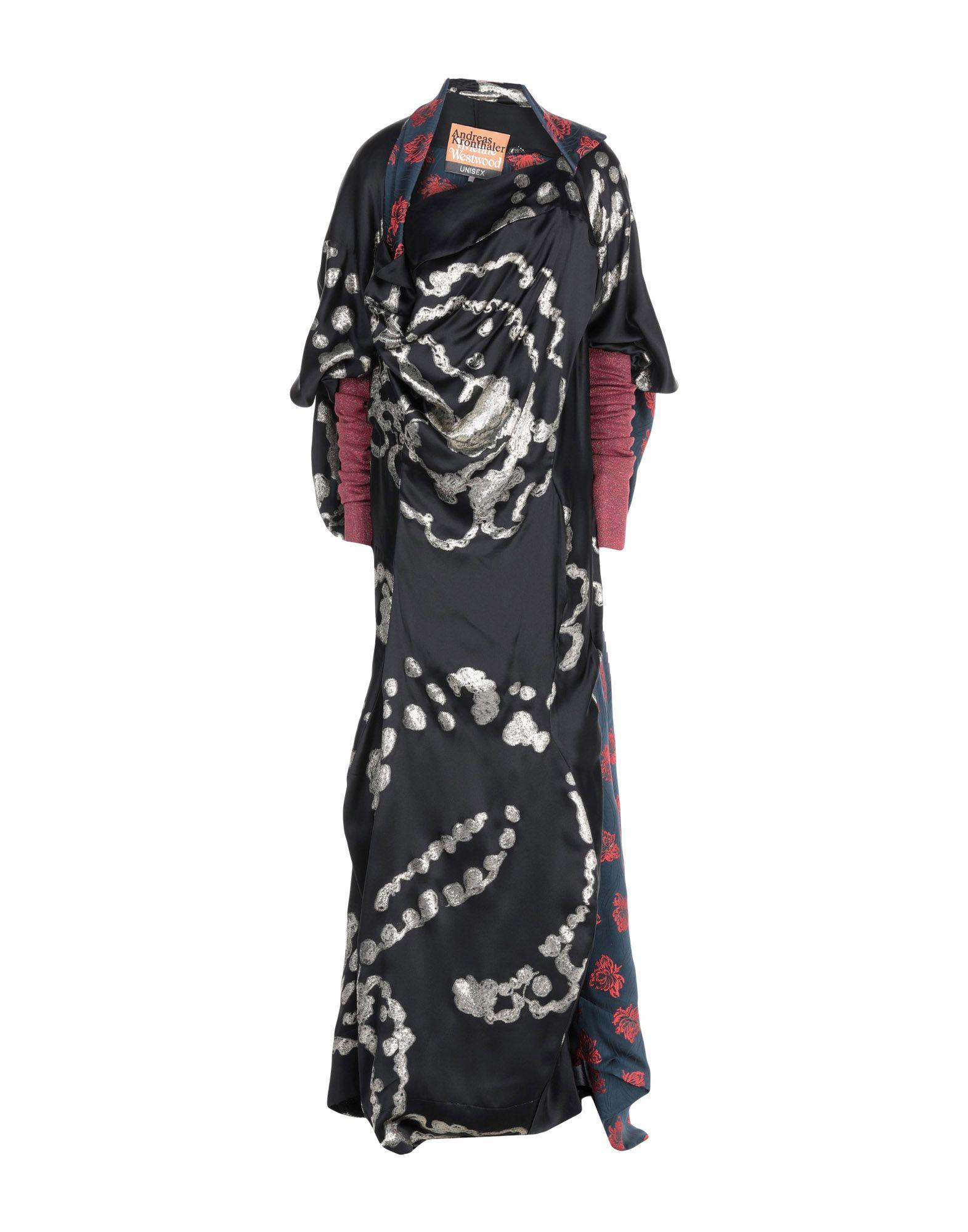 《送料無料》ANDREAS KRONTHALER for VIVIENNE WESTWOOD レディース ロングワンピース&ドレス ブラック II シルク 86% / メタリック繊維 14%