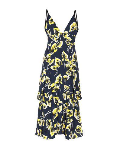 Купить Платье длиной 3/4 темно-синего цвета