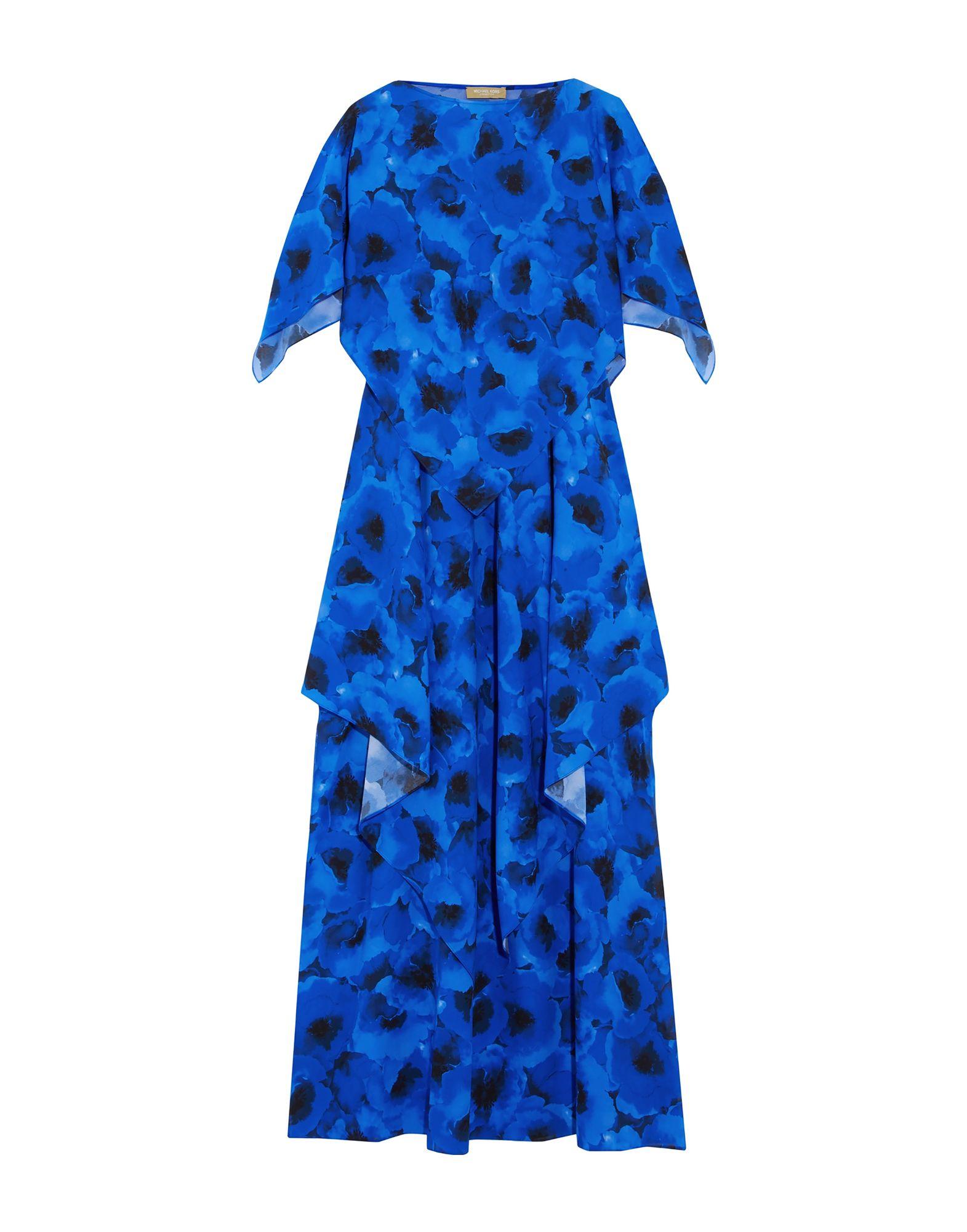 Длинное платье  Голубой цвета