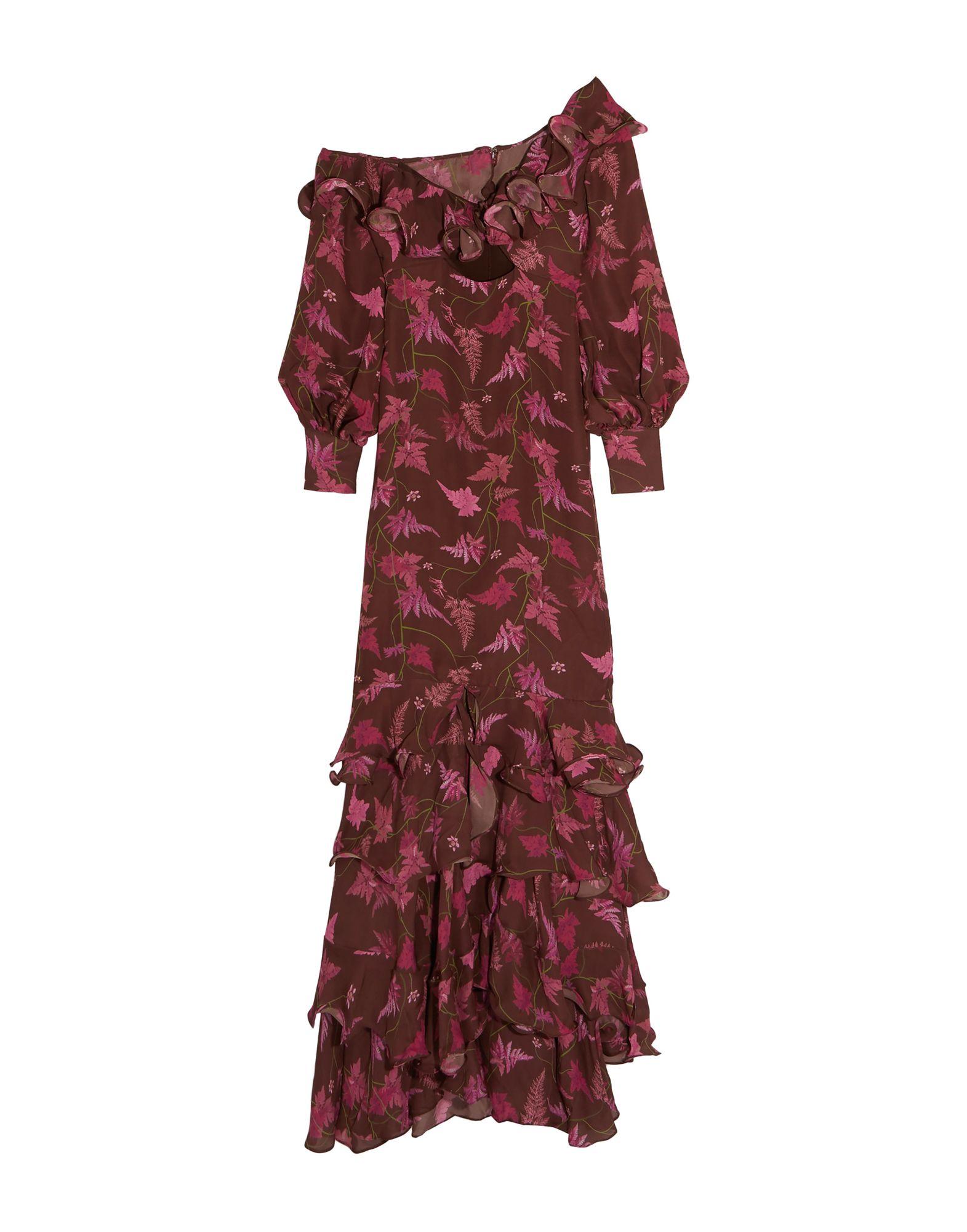 《送料無料》JOHANNA ORTIZ レディース ロングワンピース&ドレス ココア 0 シルク 100%