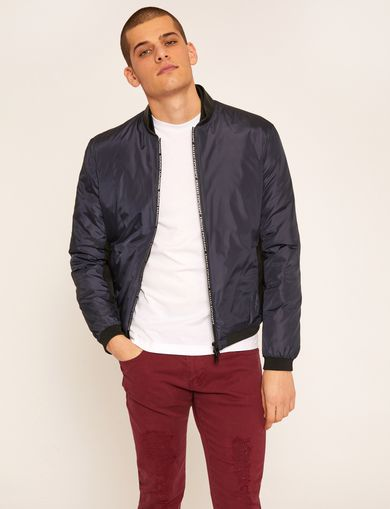 BICOLOR LOGO TAPE DOWN-FILL BOMBER
