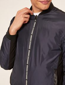 ARMANI EXCHANGE BICOLOR LOGO TAPE DOWN-FILL BOMBER PUFFER JACKET [*** pickupInStoreShippingNotGuaranteed_info ***] b