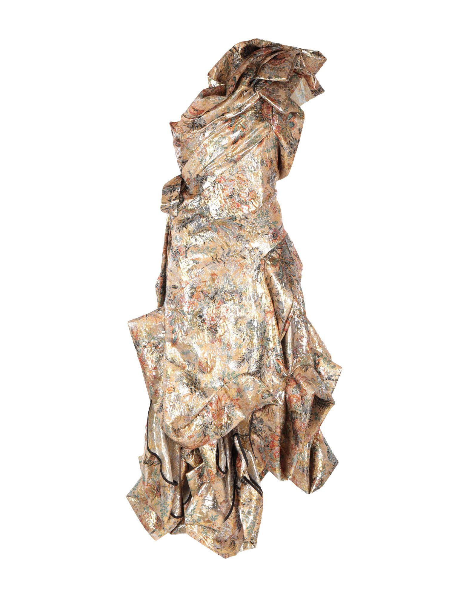 《送料無料》ANDREAS KRONTHALER for VIVIENNE WESTWOOD レディース ロングワンピース&ドレス サンド 16 シルク 50% / ポリエステル 50%