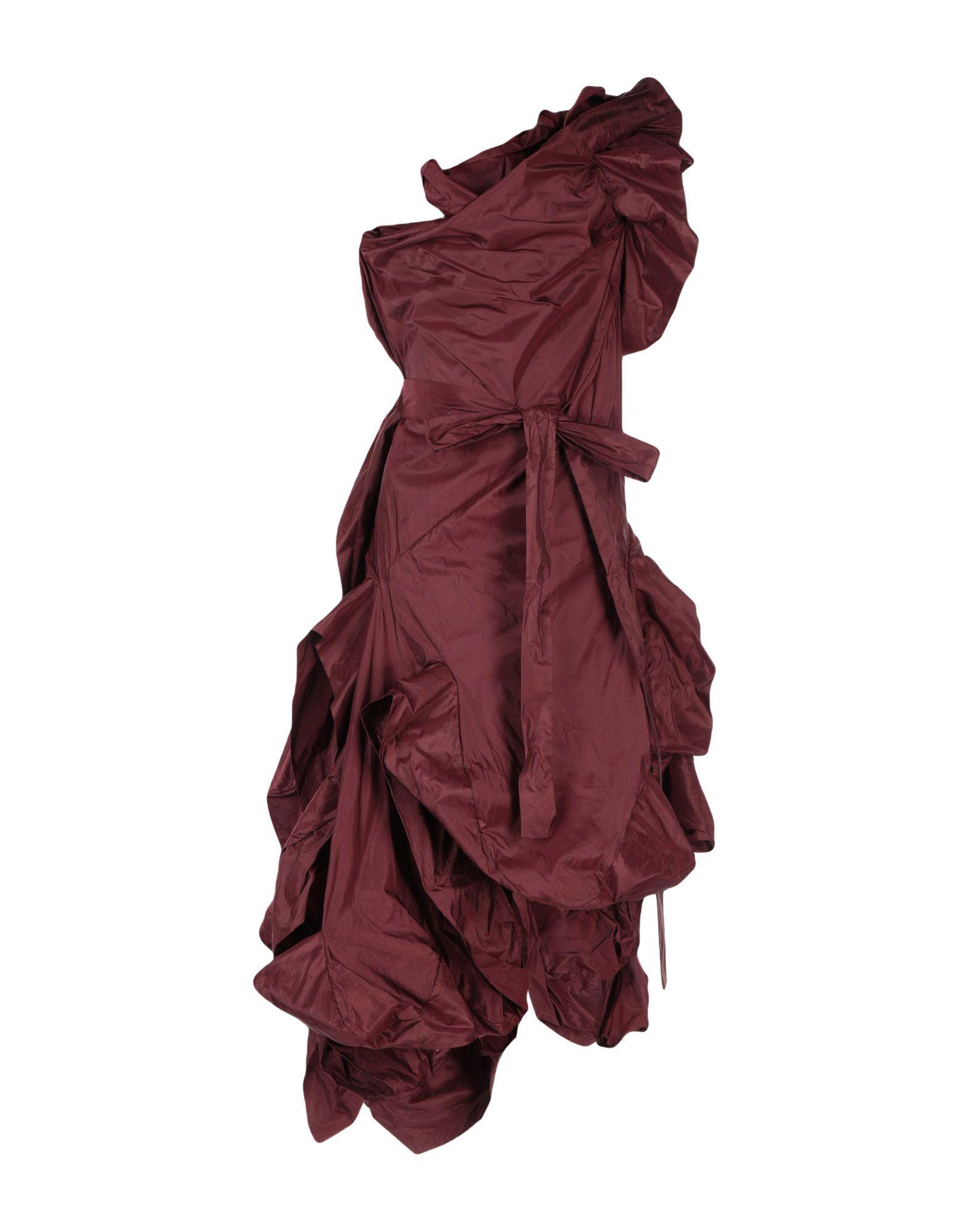 《送料無料》ANDREAS KRONTHALER for VIVIENNE WESTWOOD レディース 7分丈ワンピース・ドレス ディープパープル 10 シルク 100%